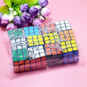 Sihirli Oyun sihirli kare anahtarlık öğrenme eğitim oyun küp iyi Hediye oyuncaklar anahtar Mini Magic Cube Puzzle Anahtarlık.