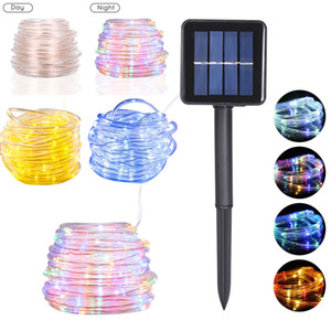 7M-22M Solar LED String Light 50 100 200 LEDs Lamp Bead Rope Fairy Strings Lights For Home Outdoor Garden Christmas Tree Wedding Party Decor