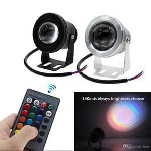 LED Unterwasserlicht RGB-10W 12V LED Unterwasserlicht 16 Farben 1000LM wasserdicht IP68-Brunnen-Lache-Lampen-Beleuchtung
