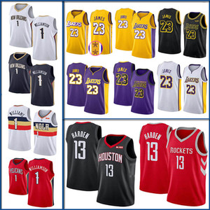 NCAA Mens College Heiße Verkäufe 1 Zion Williamson Jersey James Harden 13 Basketball James 23 LeBron Trikots Mischauftrag