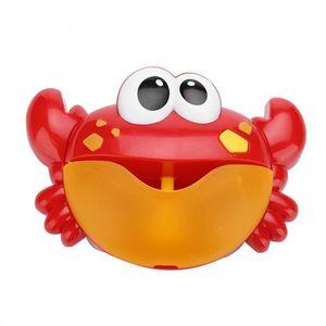 Hot Sale Cute Crab Bubble Maker Toys Kids Toy Bubble Machine Big Crab Automatic Maker Music Bath Toy For Children Kids