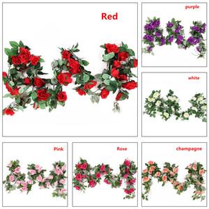 محاكاة روز فاينز روز زهرة سلسلة الاصطناعي الزهور محاكاة أزياء جميلة 2.4M ديكور المنزل
