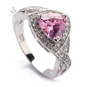 SHUNXUNZE First class products обручальные кольца ювелирные изделия для женской одежды аксессуары дропшиппинг розовый кубический цирконий родиевое покрытие R380
