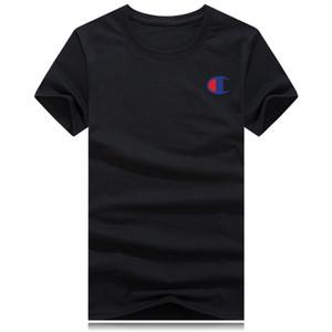 Berühmte Designer-Marke für Männer T-Shirt neue männlichen Champion Unterschrift T-Shirt Qualität atmungs Shirt Sport-Champion des Basketballs Gewebe Männer