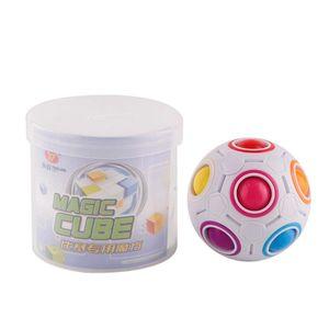Bola de la magia del arco iris cubo de la velocidad de fútbol diversión creativa esférico Rompecabezas Kids Learning Regalo educativo para adultos Juguetes para niños