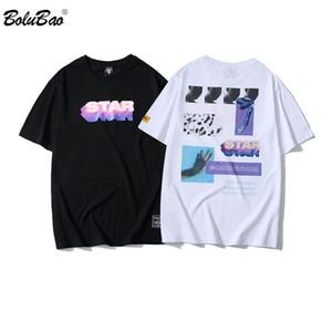 BOLUBAO nuovi uomini di estate delle magliette di marca 2019 personalità degli uomini di stampa T shirt camicie da uomo di stile di tendenza della via originale Top Tee Y200104