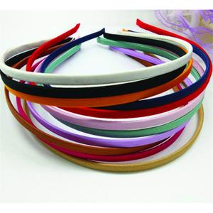 50 штук пустые сплошные цвета ткань покрыты повязку металлические 5 мм ленты для волос для волос аксессуары DIY Craft Бесплатная доставка оптом