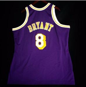 Custom Men Youth women Vintage K B Mitchell & Ness 96 97 College basketball Jersey Size S-4XL or custom any name or number jersey