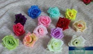 Silk flower head big rose flowers artificial flowers ball head brooch wedding decoration flower diameter