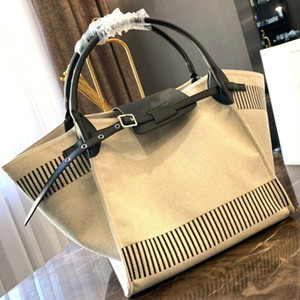 Big designer handbag 2019 new luxury designer shopping bag high quality canvas stitching women's beach bag
