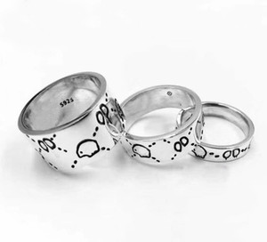 Ter selos com marca de moda da caixa 925 esterlina crânio crânio desenhista anéis bagues anelli para homens e mulheres festa luxo jóias amantes presente