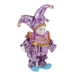 6 pulgadas adorable Modelo Ángulo niños Porcelana Triangel muñeca muñeca Arlequín Gran regalo para San Valentín Muñeca del payaso Modelo coleccionables