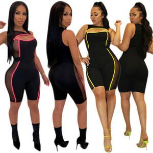Set Estate Fashion Net di giunzione del filo gambe strette sexy Slim Fit tute delle donne