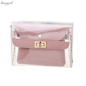 Handbags Fashion Female Bags Plain Lady Personality Transparent Jelly Shoulder Wild Messenger New Elegant Handbags 4