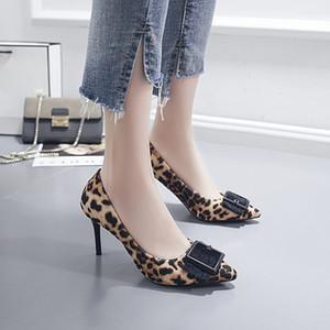 New Fashion Wild Mature Shallow Mouth Stiletto Pointu Chaussures à talons hauts Superfine Fiber Vamp Chaussures