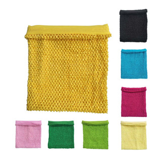 12 pulgadas forrada de ganchillo tutu top diy artesanía fiesta de disfraces niños niñas tutu dress tube tops diademas tutu suministros