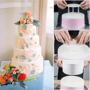 saman T200328 ile kek kek destek raf raf conta 6/8 inç çift katmanlı çoklu kek alt destek çerçevesi için araçlar pişirme 5 set