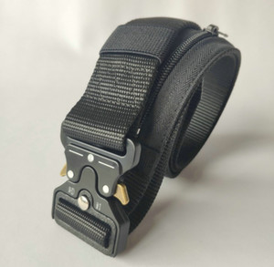 Designer de haute qualité cachée de l'argent en nylon tactique de ceinture Zipper multifonctions hommes Portefeuille extérieur Ceintures Portefeuille tactique