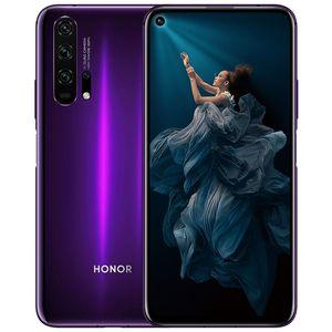Original Huawei Honor 20 Pro Cell Phone 4G LTE 8GB de RAM 128GB 256GB ROM Kirin 980 Octa Núcleo 6,26 polegadas tela cheia 48MP NFC Smart Mobile Telefone