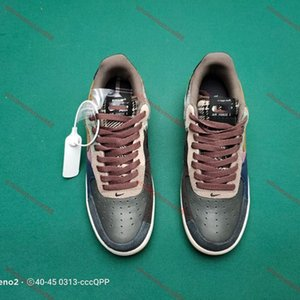 xshfbcl Travis Scott x Air Velvet Multi Color Stitching Zipper TS YY Travis Scott Running Schuhe für Sport Trainer Frauen Force-Mode-Schuhe
