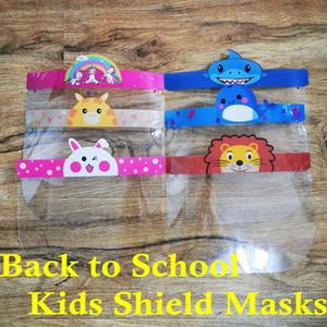 DHL Nave, Cartoon Animal Bambini Progettato Holder Visiera con vetro, ragazzi a scuola di protezione maschera di protezione Full Face Visor Chiaro