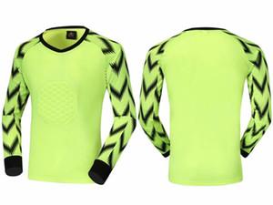 Adult soccer blank goalkeeper jersey long sleeve soccer sets kits goalkeeper customize team logo longsleeve goalie training shirts