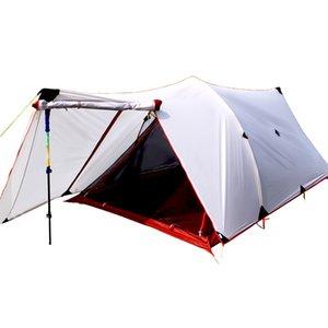 HIMAGET para carpas de nylon 25D de silicona Recubrimiento 2 capas doble de la persona de aluminio de aleación de Rod camping tienda que viaja 4 Season