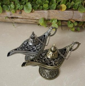 Classic Fairy Tale Aladdins Magic Lamp Tea Pot Genie Lamps European Style For Photography Prop Home Decoration