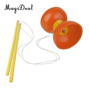 MagiDeal Traditionelle Chinesische Jokugel Plactic Diabolo mit Handstäbe String Jonglieren für Kinder Party zeigen Hände Fähigkeit Spielzeug Y200428