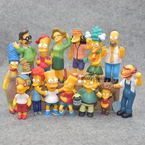 14pcs / lot Simpsons Koleksiyon Figür oyuncak dekorasyon aksiyon figürü Brinquedos Anime çocuk oyuncakları PVC Koleksiyon Modeli Oyuncak Şekil