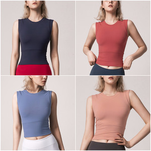 민소매 조끼 여성 캐주얼 요가 의상 성인 스포츠 운동 피트니스 착용 실행 LU-60 여자 요가 셔츠 여자