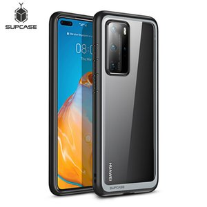 Fitted Cases For Huawei P40 Pro Case (2020 Release) SUPCASE UB Style Slim Anti-knock Premium Hybrid Protective TPU Bumper + PC Clear Cover