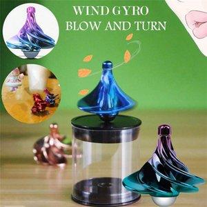 Kreative Pneumatic Fidget Spinner Mini-Schraubengewinde-Wind bläst Selbstdrehhand Spinner WinSpin Stress Relief Spielzeug für Kinder