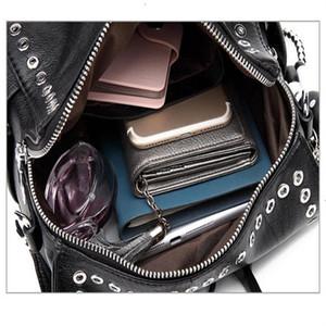 Women Leather Backpack Rivet School Bags For Teenage Girls Fashion Female Bagpack Schoolbag rucksack mochila herschel backpack woman bagpack