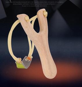 الخشب مقبض المنجنيق خشبي قوي مقلاع الرياضة في الهواء الطلق منحوتة الاطفال المقاليع الصيد الرماية حبال النار الاطفال اللعب