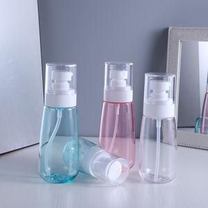 Mist Spray-Flasche aus Kunststoff Reise nachfüllbar Transparent Airless Pumpe Parfüm Taschenflasche Einzelpaket 30ml l 60ml 80ml 100ml