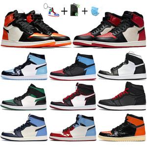 Jumpman 1 unc chicago erkek basketbol ayakkabıları siyah altın ayak parçası oyunu kraliyet spor salonu kırmızı melo psg erkek spor ayakkabı tasarımcısı spor ayakkabı yasaklandı