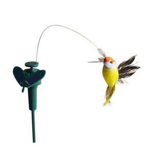 Al por mayor- LeadingStar Funny Solar Toys Flying Fluttering Hummingbird Flying Powered Birds Color aleatorio para la decoración del jardín Venta caliente