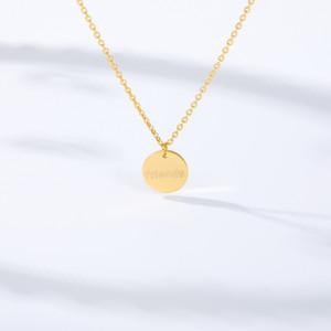 Монеты навсегда Friend ожерелье цепи ожерелья для девочек Женщин Детей Мальчиков Круглой Простой подвески Сестра BFF Friendship Подарки