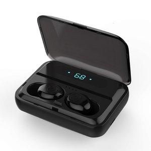 Sans Fil Écouteurs Tws F9-5 Bluetooth v5. 0 Mini Smart Touch écouteurs LED Affichage Avec 1200 mAh Puissance Banque casque J5WQ