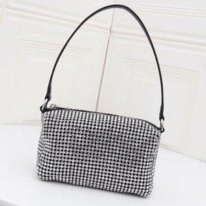 Senhoras Crossbody Bags Bolsa de Ombro Carteiras Moda Rhinestone Shimmer Alça de Transporte Mulheres Basket Bag Bling Plain frete grátis