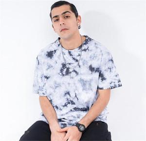 Designer T-Mode en vrac Imprimer lambrissé manches courtes pour hommes T-shirts hommes Vêtements décontractés Tie Dye Mens