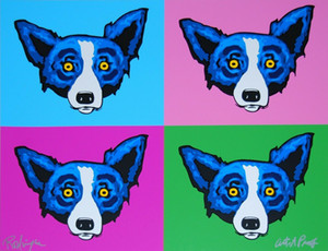 Джордж Rodrigue Синий Dog Heads Home Decor расписанную HD печати Картина маслом на холсте Wall Art Canvas картинки 200112