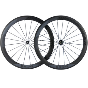 700C Carbon Road Bike Wheels 50mm Depth 23mm Width Full Carbon Clincher Tubular Wheelset With R36 Straight Pull Hubs Customizable Logo