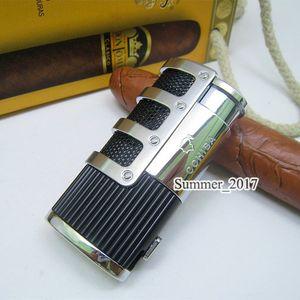 COHIBA High-End-Netzwerkrüstung Zigarettenanzünder mit eingebauter Zigarre Punch Flamme 3 Torch Zigarettenanzünder mit Geschenkbox