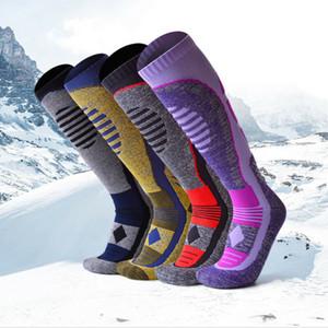 Mens spessi lunghi Cottn Thermal Boot Socks piedi Escursioni Ski Inverno caldo Crew Anti attrito For Men 2019
