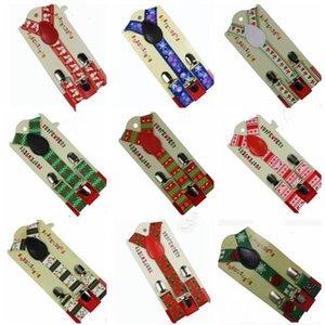 عيد الميلاد الحمالات أزياء أطفال ميلو دير شجرة عيد الميلاد المطبوعة مطاطا Scrunchies 3 كليب الحمالات وزرة الديكور 9 نمط WY248Q