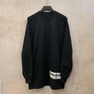 오웬 Seak 남성면 후드 스웨터 고딕 양식의 오버 사이즈 남성 의류 가을 검은 색 스웨터를 바닥 스웨터