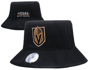 Vegas Golden Knights Hockey Knit Beanies Bucket Barrel Sombrero ajustable Gorros Snapback bordados Negro Gris Blanco Sombreros cosidos Talla única 11