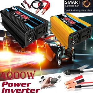 4000W de potencia del inversor solar del coche del convertidor del adaptador USB de doble pantalla LED de 12V a 220V / 110V Transformador de tensión onda sinusoidal modificada